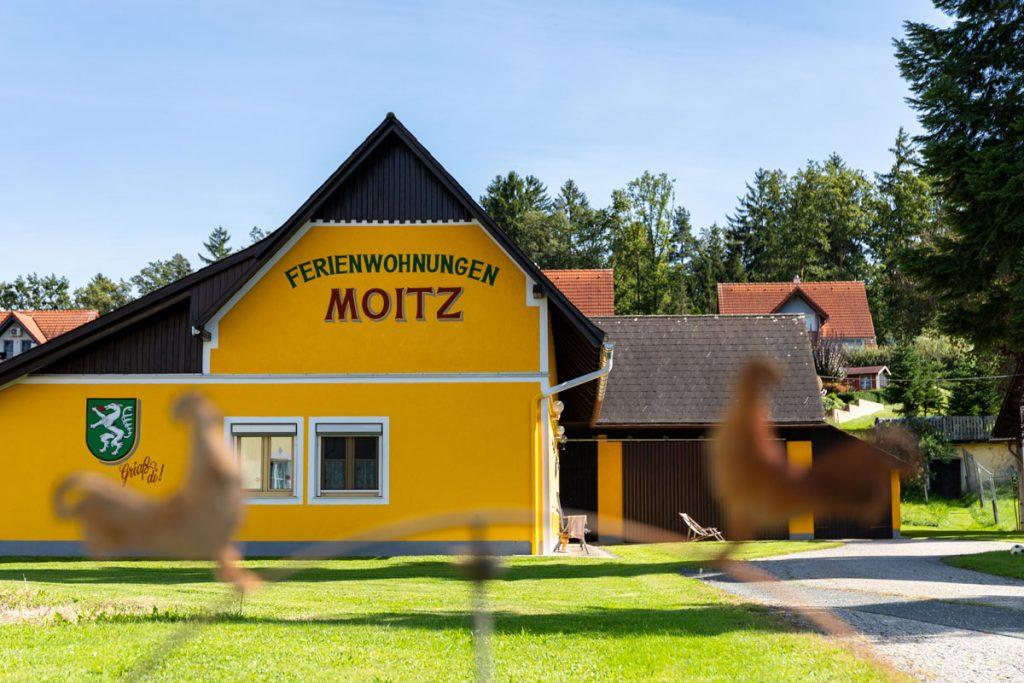 Frontansicht – Ferienwohnungen Moitz